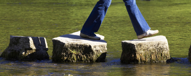 iStock_000000754036Large - legs on stepping stones