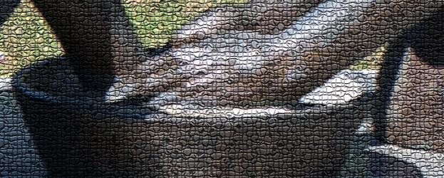 foot washing mosaic matt bierman flickr